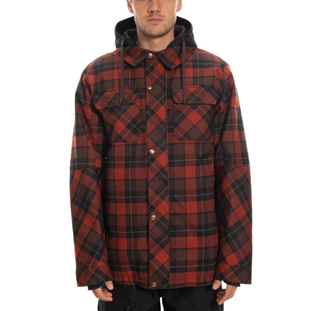 Woodland Insulated Jacket (Rusty Red Plaid)