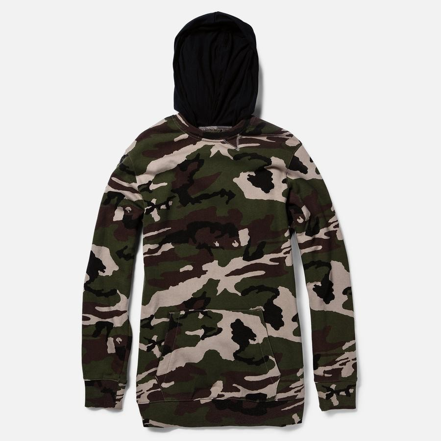 Asym Hooded Crew Fleece 14-15 (Mud Dye)