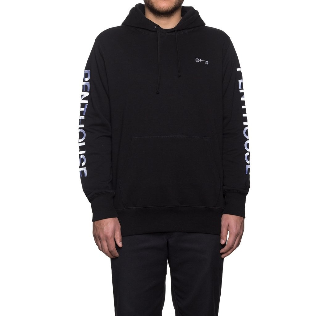 HUF Penthouse Pullover Hoodie (Black)
