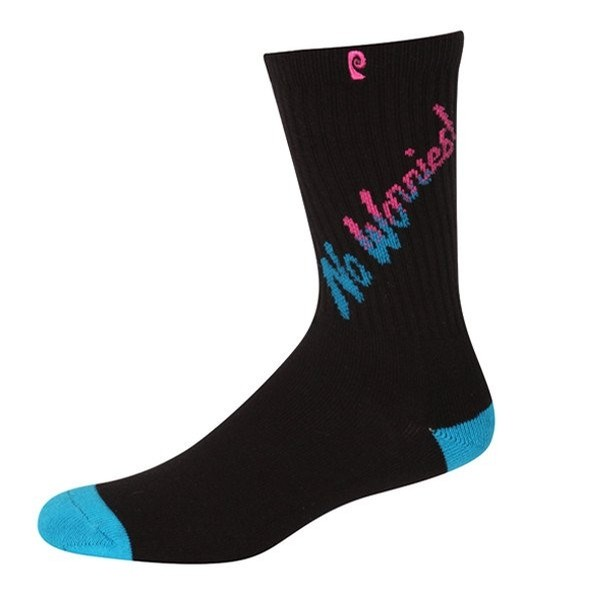 No Worries Psock (Black/Teal)