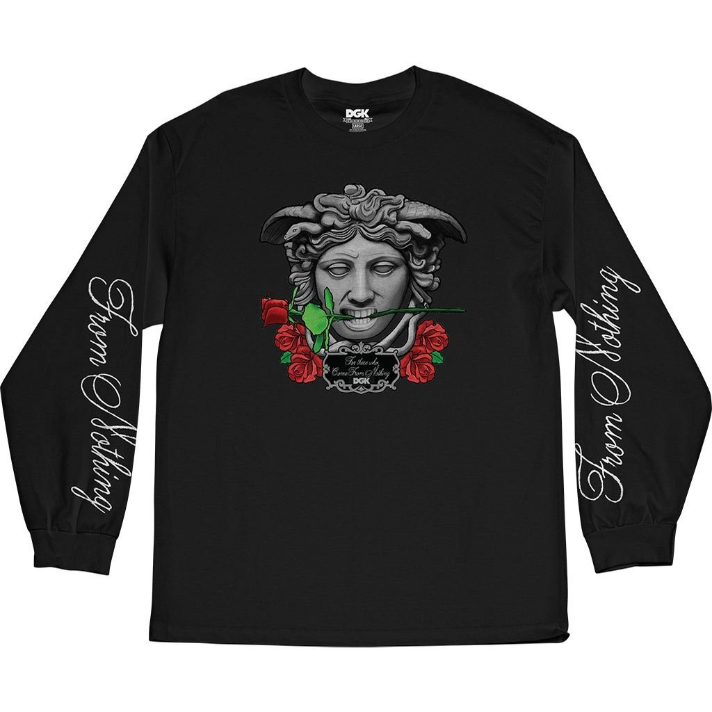 Exquisite Longsleeve Tee Shirt (Black)