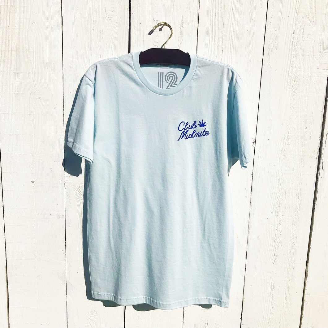 Dont Panic SS T Shirt (Sky Blue)