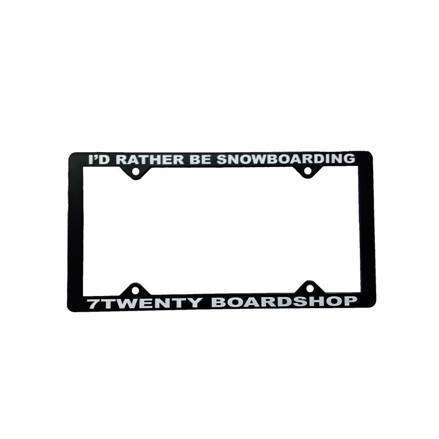Id Rather Be Snowboarding License Plate Cover
