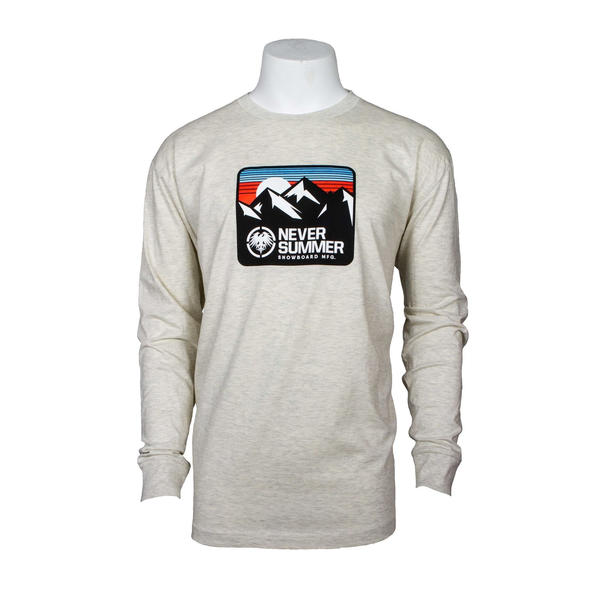 Retro Mountain LS Tee (Oatmeal)