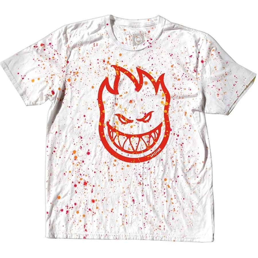 Splatter Dye T-Shirt (White/Red)