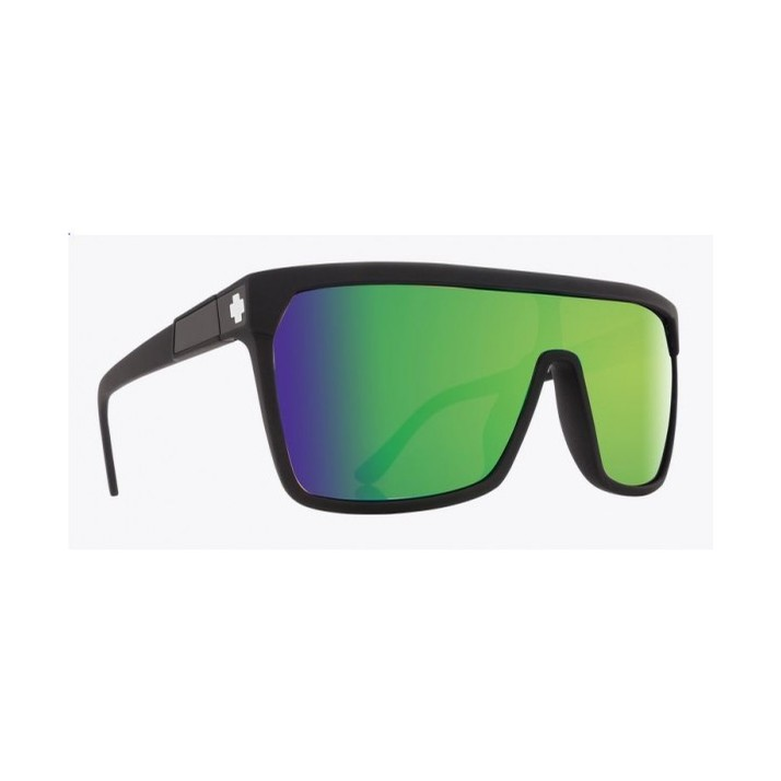 Flynn Sunglass (Happy Bronze/Green Spec) Matte Black