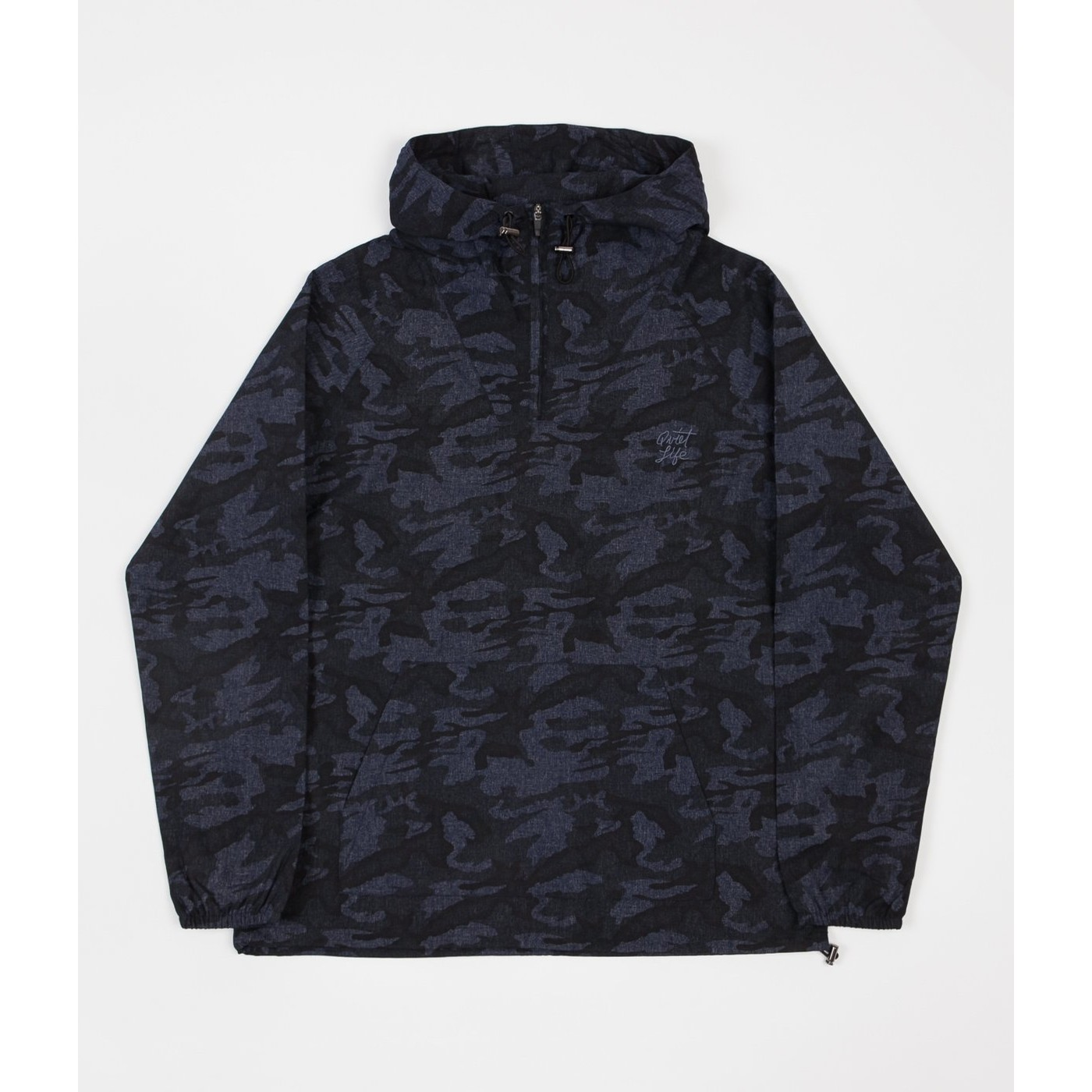 Camo Pull Over Jacket (Black)