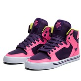 Supra Vaider Shoes | Magenta Purple