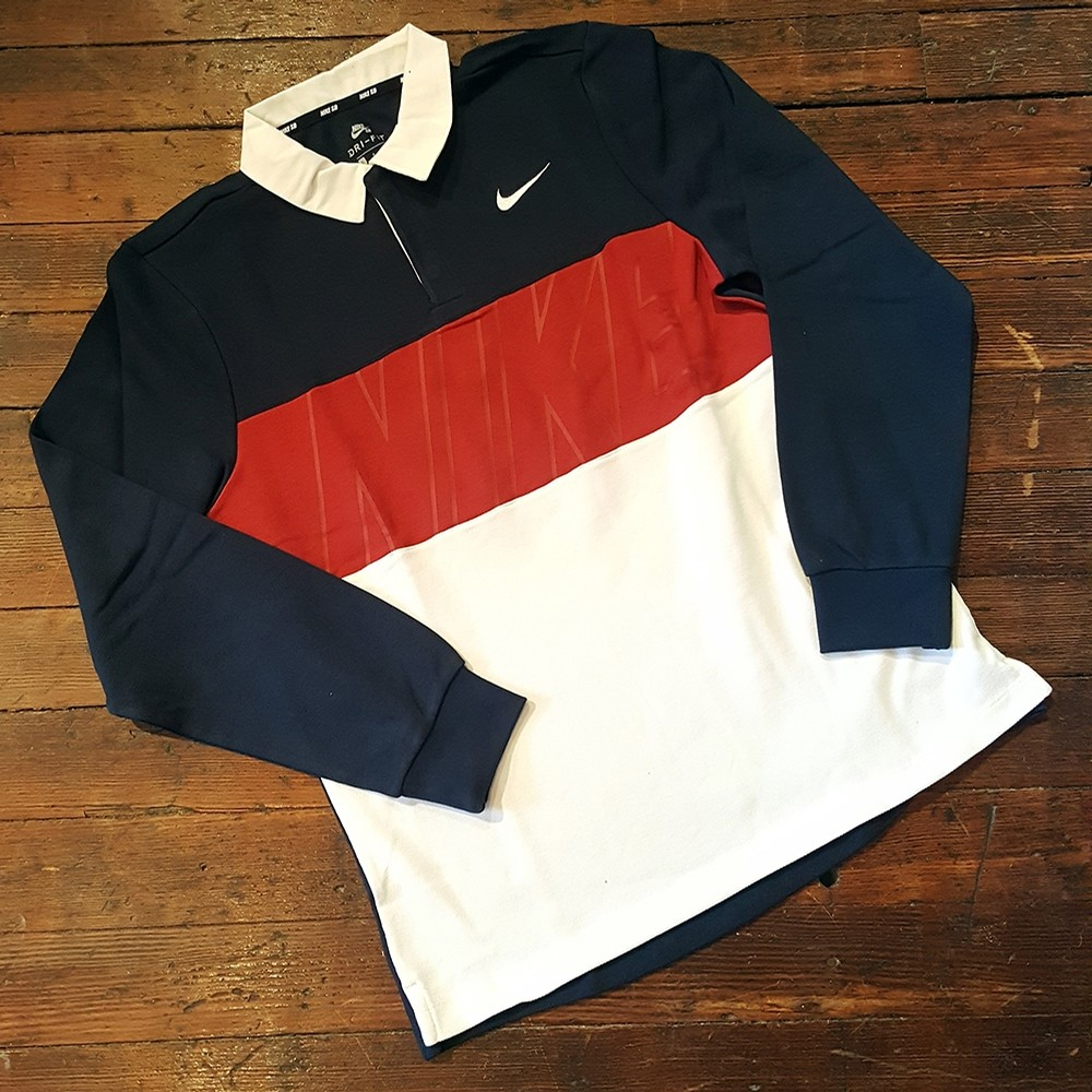 DRI-FIT RUGBY (OBSIDIAN/CRIMSON/WHITE)