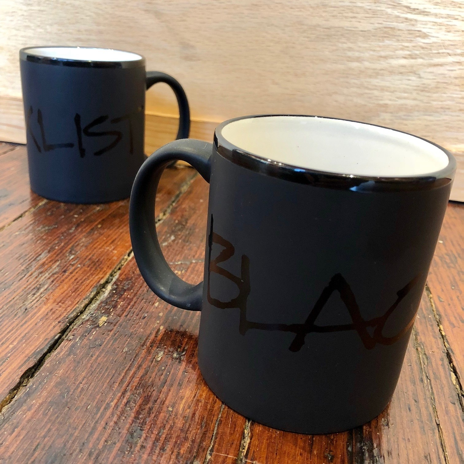 BLACKLISTRIGHTE LOGO COFFEE MUG (GLOSS ON MATTE)