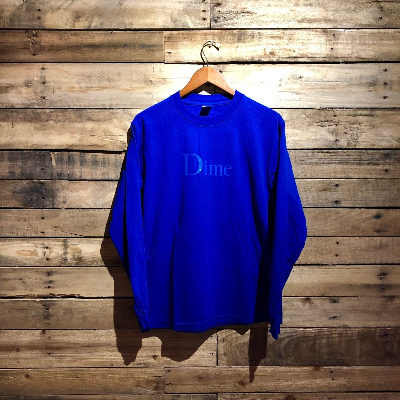 CLASSIC LOGO LONG SLEEVE TEE (ROYAL)