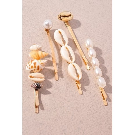Pearl and Shell Hair Clip Set