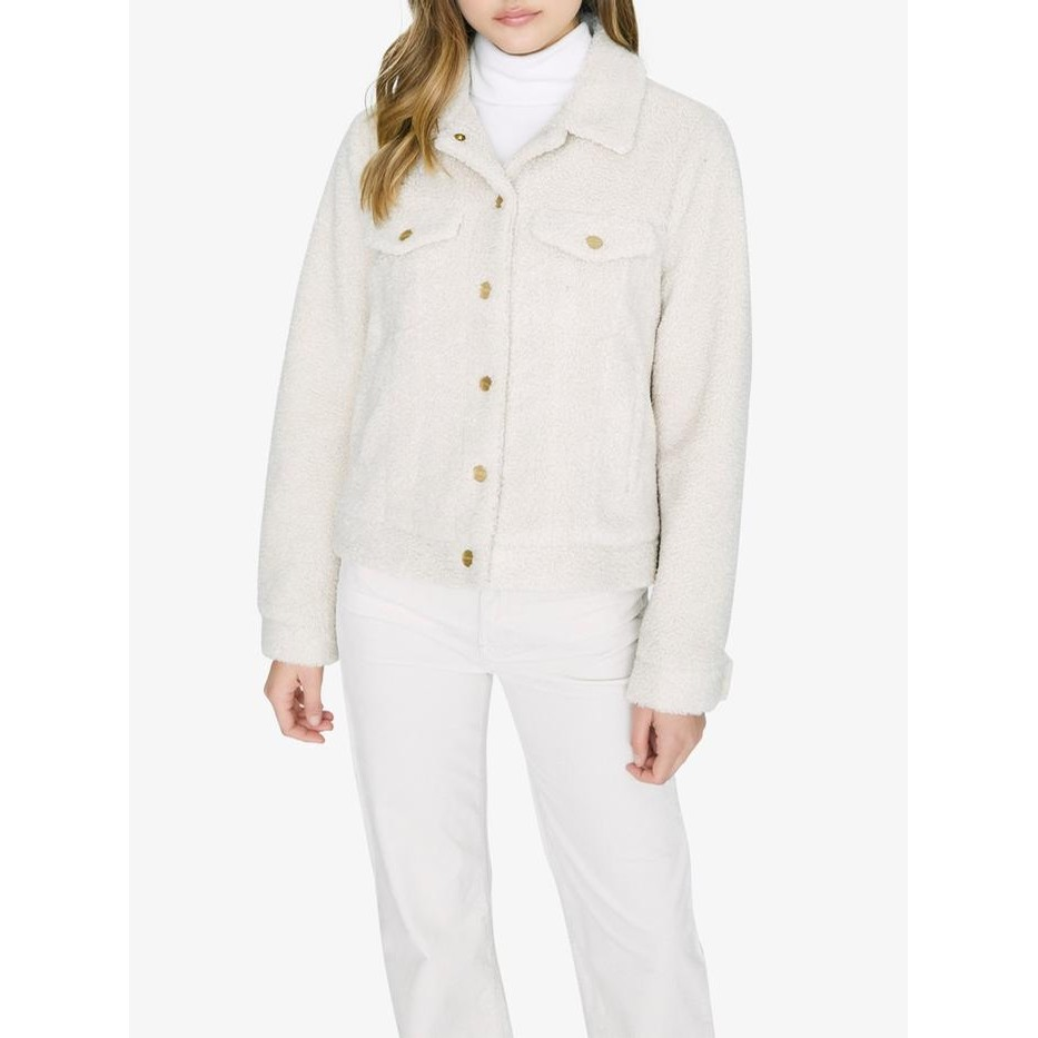 Astoria Fuax Fur Jacket (Moonstone)