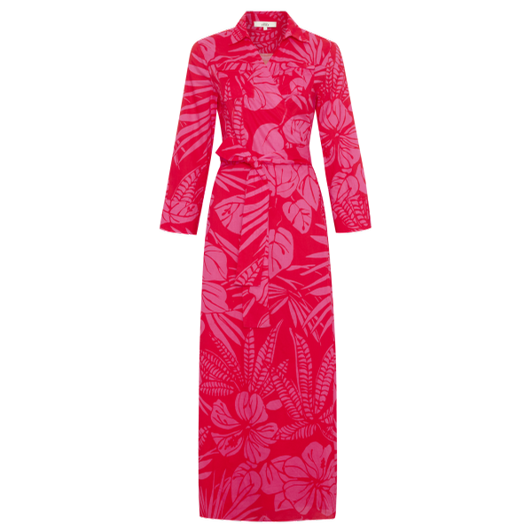 0039 ITALY Havanna Wrap Dress (Red/Pink)
