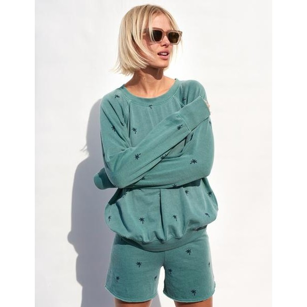 Palm Tree Pullover (Dew)