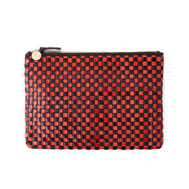 Flat Clutch (Navy/Red)