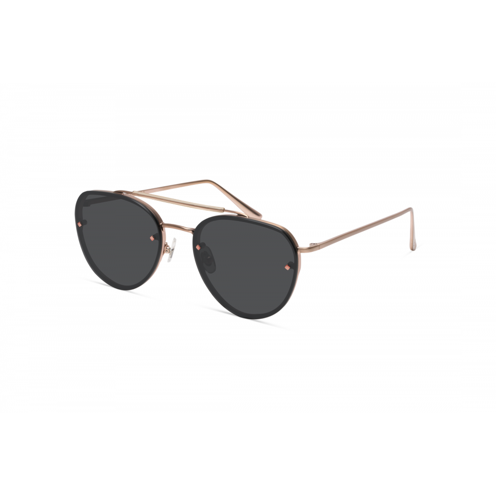 Victorville Sunnies (Antique Rose Gold/Grey CZ)