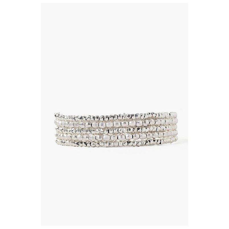 Silver Mix Naked Wrap Bracelet