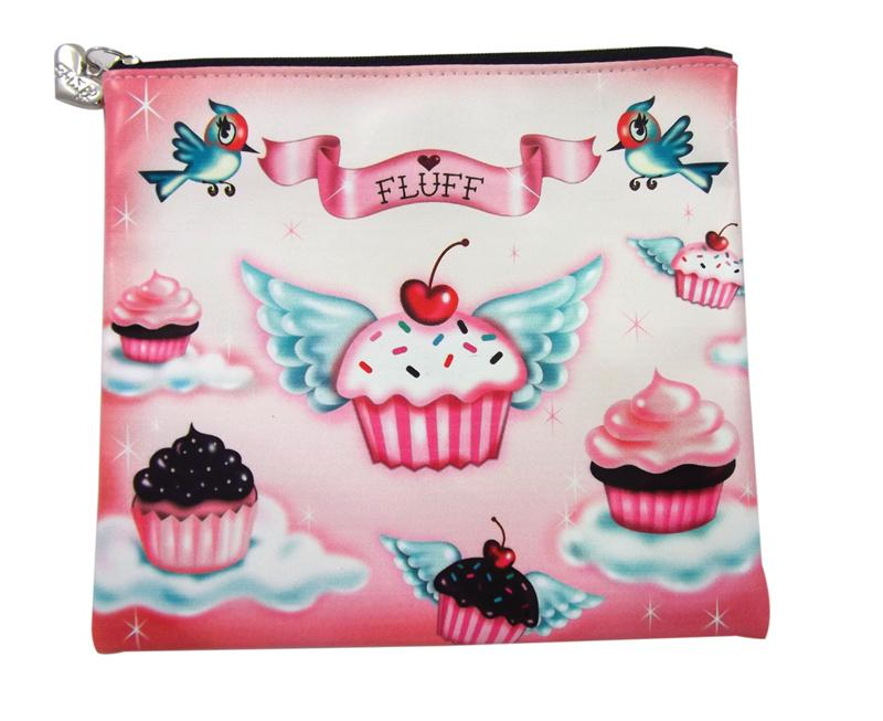 Cupcake Heaven Flat Makeup Bag