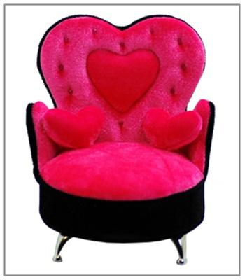 Heart Shaped Back Chair Jewelry Box