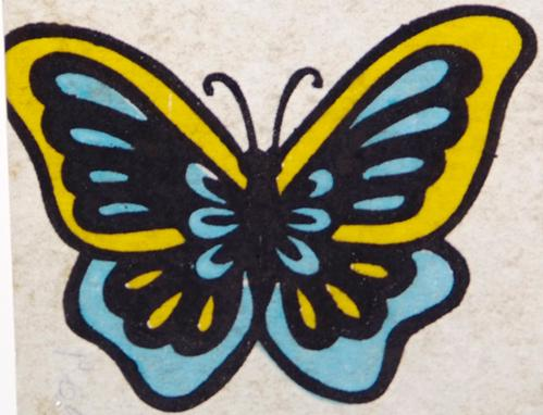 Butterfly Transfer - Blue and Yellow