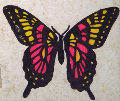 Butterfly Transfer - Pink and Yellow