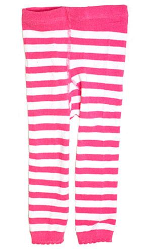 Baby Fuschia and White Striped Leggings