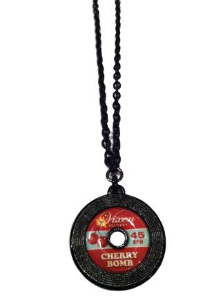 Cherry Bomb Record Necklace