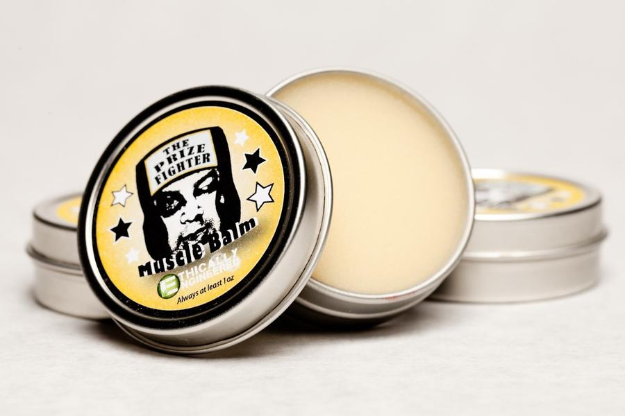 Vegan Organic Muscle Balm -- The Prizefighter