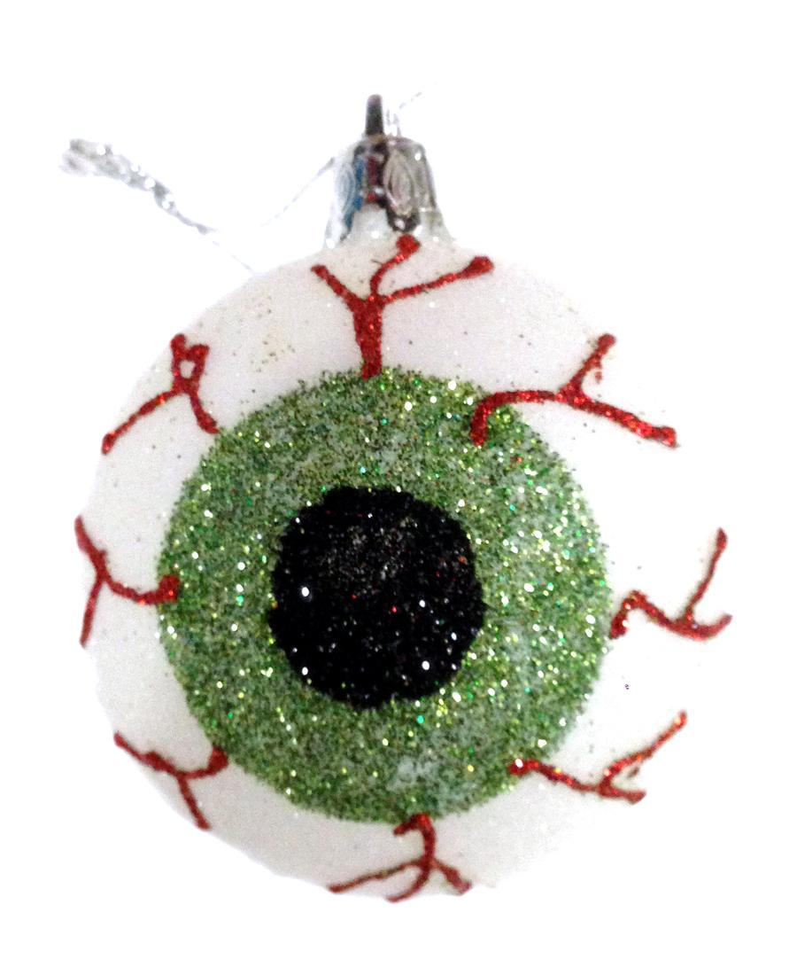 Small Green Eye Ball Ornament