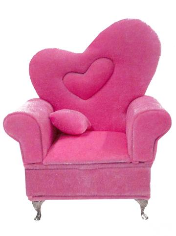 Heart Back Arm Chair Jewelry Box