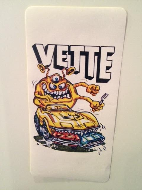 Vette Hot Rod Sticker
