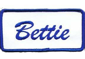 Bettie Name Tag Patch
