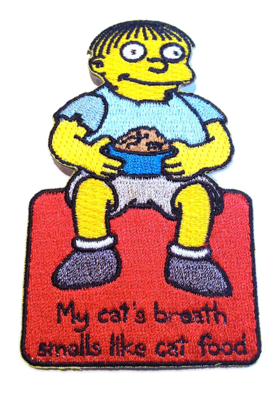 Simpsons Ralph Cat Food Patch