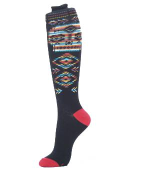 Navajo Skull Knee High Socks