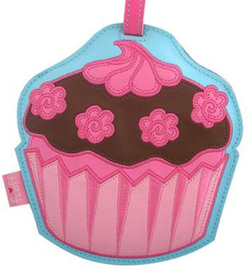 Chocolate With Pink Roses Fluffcake Luggage Tag