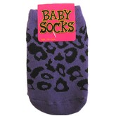 Purple Leopard Baby Socks