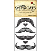 The Don Juan Mustache Temporary Tattoo Set