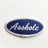Fuzzy Dude Asshole Name Tag Patch