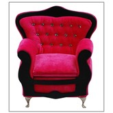 Hot Pink Jeweled Back Arm Chair Jewelry Box