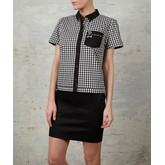 Black Gingham Bowling Shirt