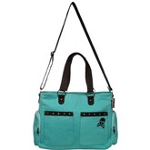 Teal Canvas Studded Diaper Bag