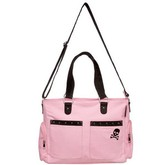 Pink Canvas Studded Diaper Bag