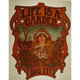 Life Is A Garden Vintage Transfer