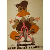 Here Comes Trouble Vintage Transfer