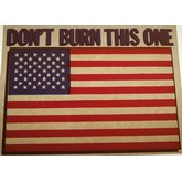 Don't Burn This One American Flag Transfer