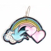 Rainbow and Sparrow Luggage Tag
