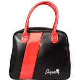 Sourpuss Black and Red Fast Track Bowler Purse
