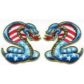 Broken Cherry Dirty Donny Stars and Bars Cobra Patch SET