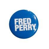 Fred Perry White Type on Blue Button